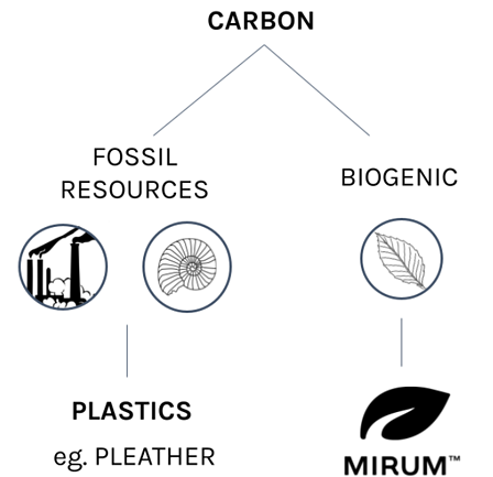 biogenic carbon and fossil resources